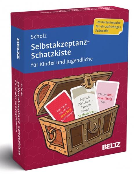 SELBSTAKZEPTANZ-Schatzkiste für Kinder und Jugendliche 8+, 11+, 14+